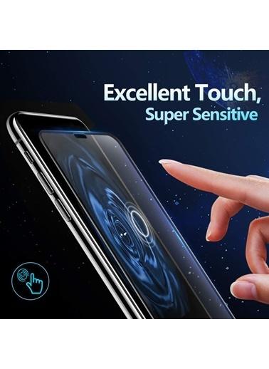 Microsonic Apple iPhone 11 (6.1'') Tam Kaplayan Temperli Cam Ekran Koruyucu Siyah Siyah